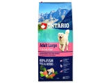 ONTARIO Dog Adult Large Fish & Rice 12+2,25kg ZDARMA