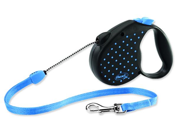 Vodítko FLEXI Color Dots lankové modré M 1ks