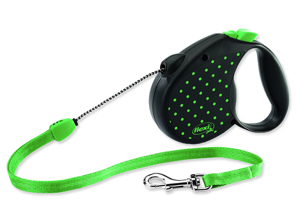 Vodítko FLEXI Color Dots lankové zelené M 1ks