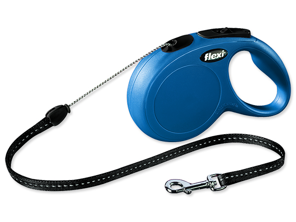 Vodítko FLEXI Classic new lanko modré S - 8 m 1ks