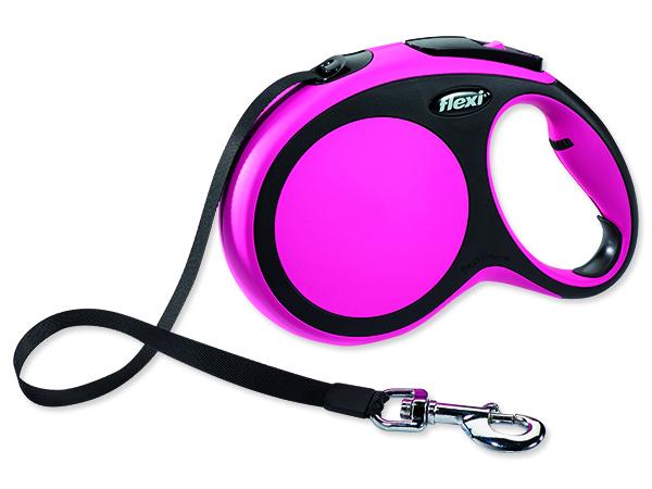 Vodítko FLEXI New Comfort páska růžové L - 8 m 1ks