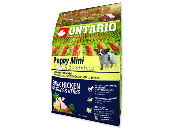ONTARIO Puppy Mini Chicken & Potatoes & Herbs 2,25kg