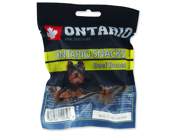 Snack ONTARIO Dog Rawhide Bone 7,5 cm 5ks