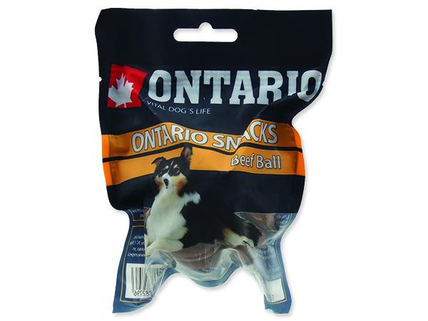 Snack ONTARIO Dog Rawhide Ball 7,5 cm 1ks