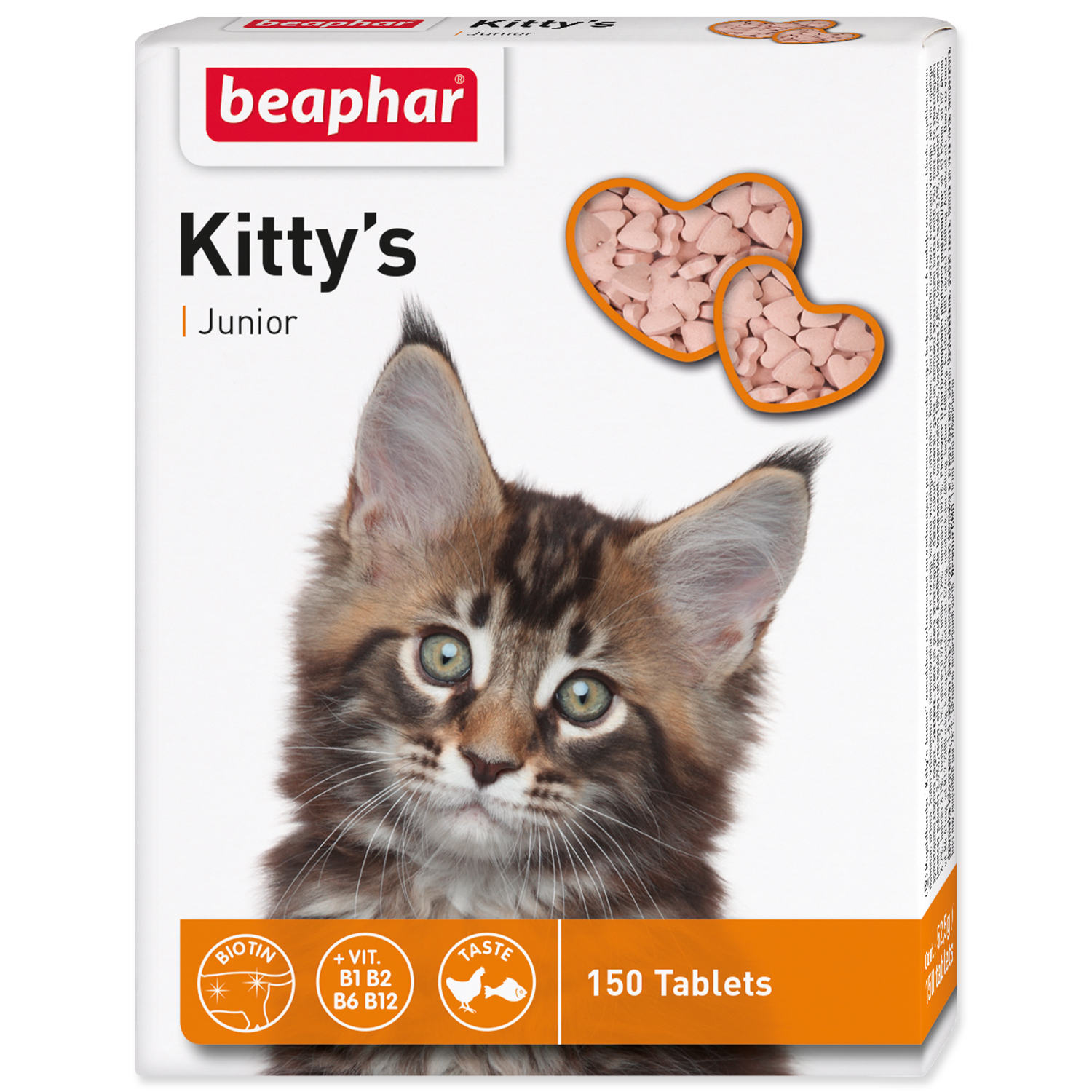 Pochoutka BEAPHAR Kitty´s Junior biotin 150tablet