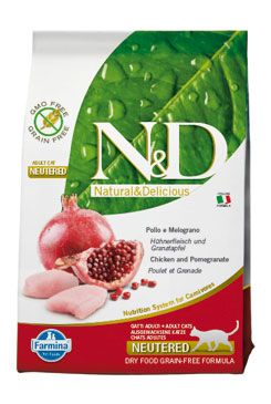 N&D GF CAT Neutered Chicken&Pomegranate 5kg