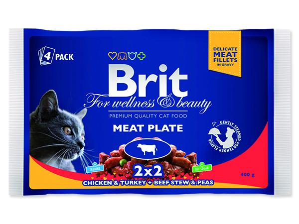 Kapsičky BRIT Premium Cat Meat Plate 400g