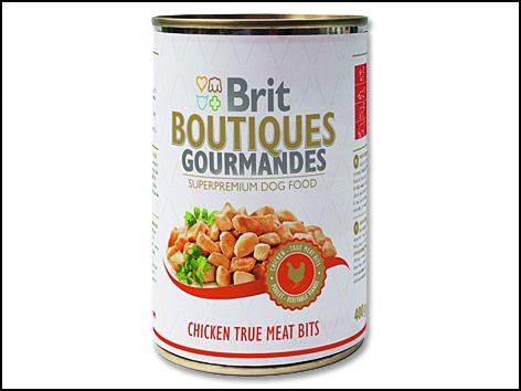 Konzerva BRIT Dog Boutiques Gourmandes Chicken True Meat Bits 400g
