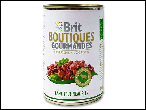 Konzerva BRIT Dog Boutiques Gourmandes Lamb True Meat Bits 400g