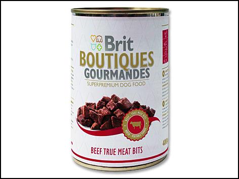 Konzerva BRIT Dog Boutiques Gourmandes Beef True Meat Bits 400g