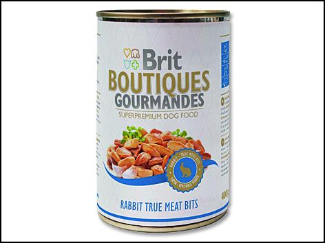 Konzerva BRIT Dog Boutiques Gourmandes Rabbit True Meat Bits 400g