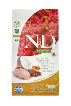 N&D GF Quinoa CAT Skin&Coat Quail & Coconut 1,5kg
