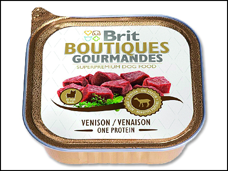 Konzerva BRIT Dog Boutiques Gourmandes Venison Small Breed One Meat 150g