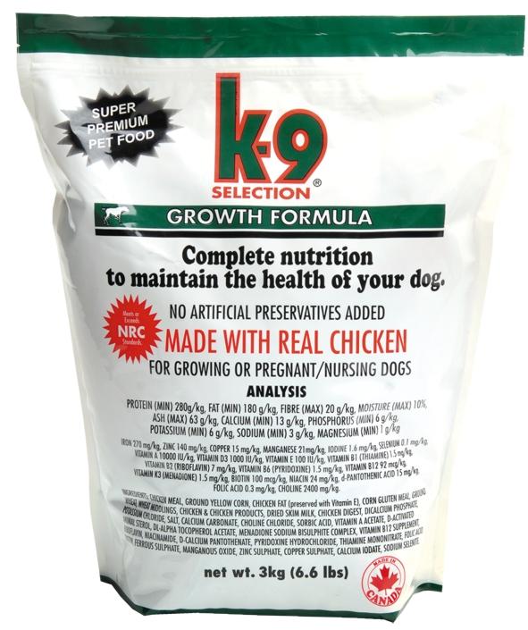 K-9 SELECTION GROWTH FORMULA 1 kg (krmivo pro štěňata)