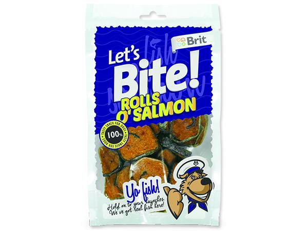Snack BRIT Dog Lets Bite Rolls o`Salmon 80g