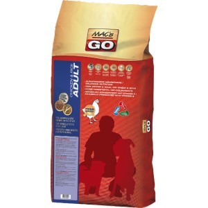 Dry MACs Dog GO DOSPĚLÝ PES 3 kg - KUŘE a RÝŽE