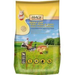 Dry MACs Cat DOSPĚLÁ KOČKA 1,5 kg - KACHNA, KRŮTA a KUŘE
