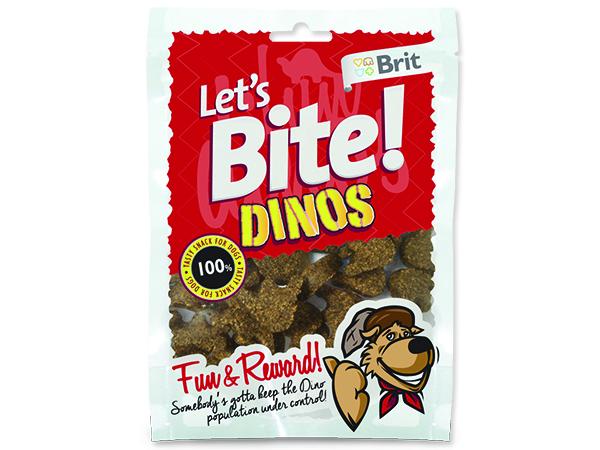 Snack BRIT Dog Lets Bite Dinos 150g