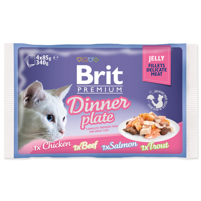 Kapsičky BRIT Premium Cat Delicate Fillets in Jelly Dinner Plate 340g