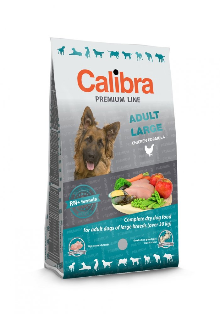 Calibra Dog Premium Adult 12kg (Zaváděcí akce 12+3kg zdarma (Platnost do 31.12.2017))
