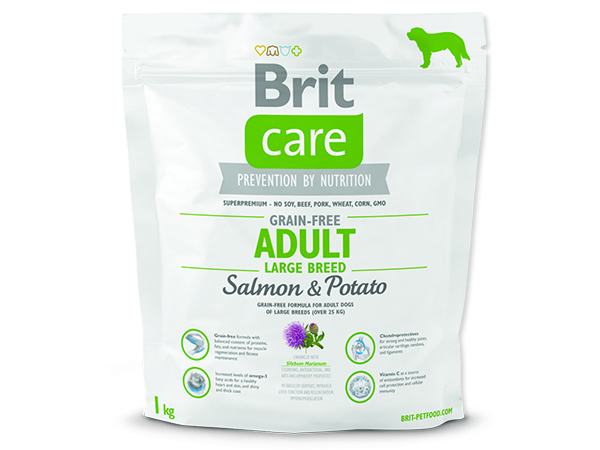 BRIT Care Grain-free Dog Adult Large Breed Salmon & Potato 1kg