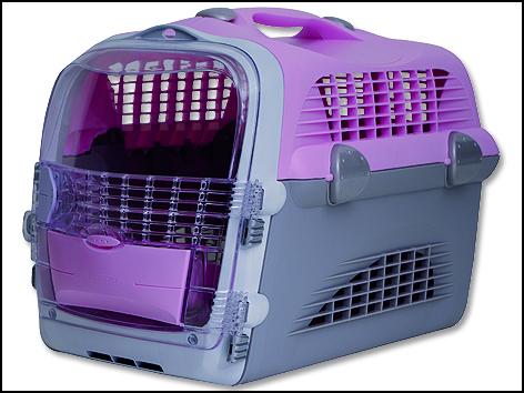 Přepravka CAT IT Design Cabrio růžovo-šedá 1ks