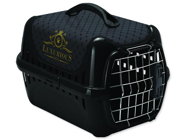 Přepravka MAGIC CAT Luxurious plastová černá 1ks