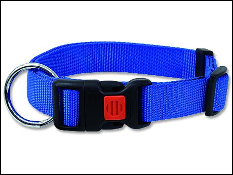 Obojek DOG FANTASY modrý 45-65 cm 1ks