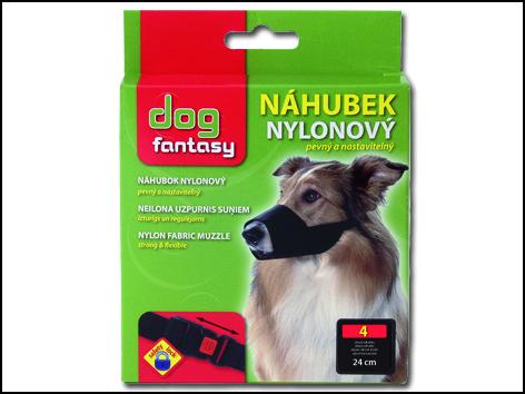 Náhubek DOG FANTASY nylonový černý č.4 1ks