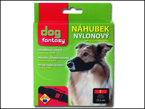 Náhubek DOG FANTASY nylonový černý č.5 1ks