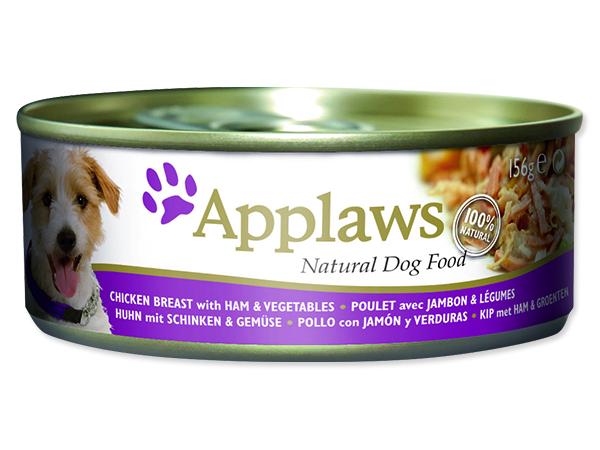 Konzerva APPLAWS Dog Chicken, Ham & Vegetables 156g