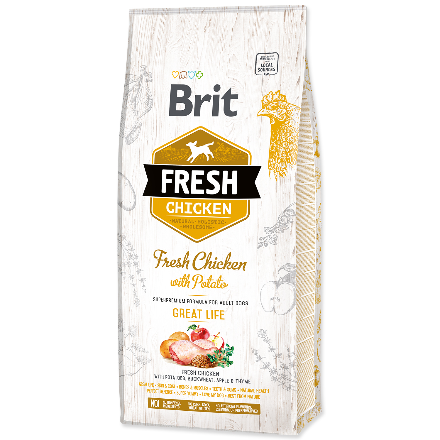 BRIT Fresh Chicken with Potato Adult Great Life 12kg