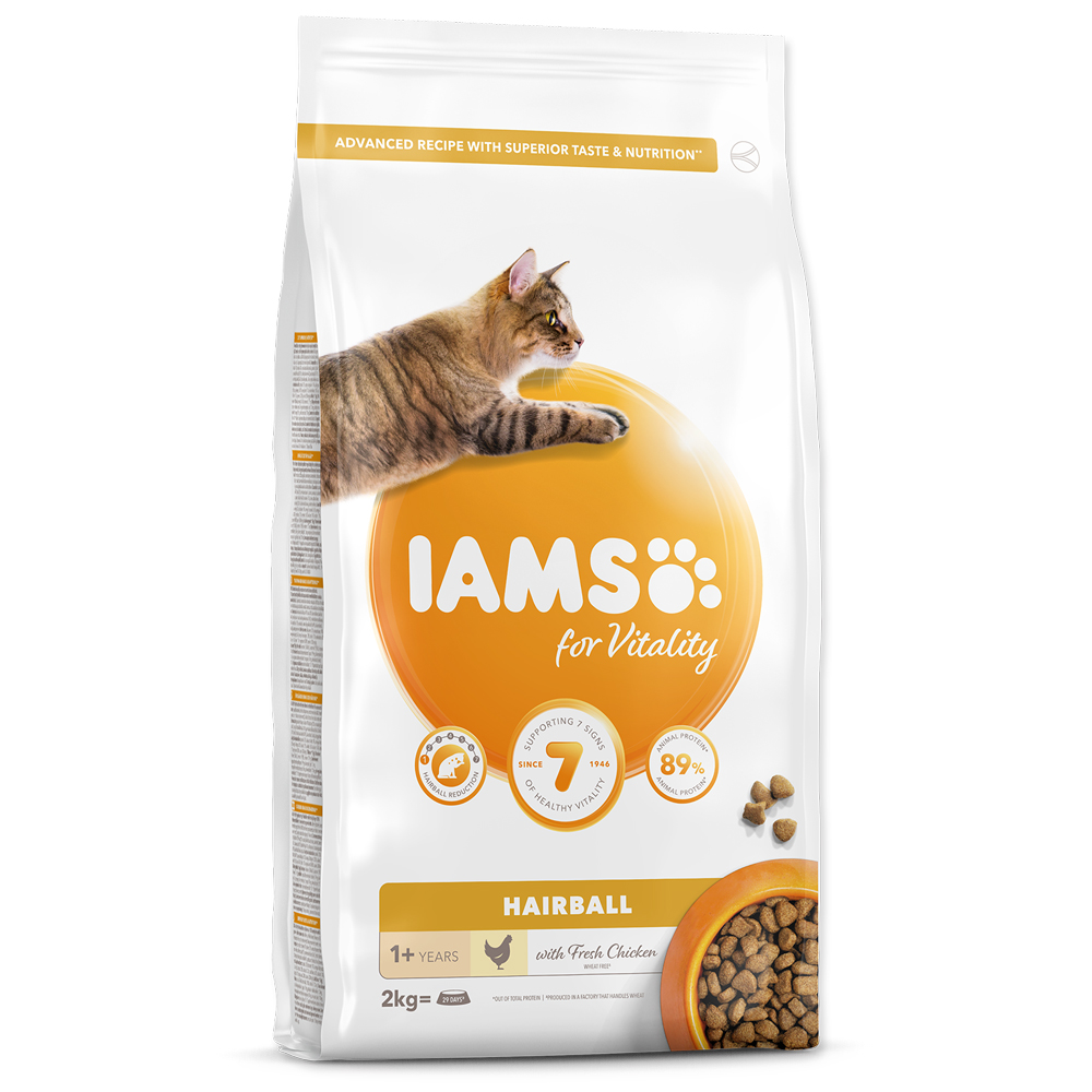 Sleva 13% - IAMS for Vitality Adult Cat Food Hairball Reduction with Fresh Chicken 2kg