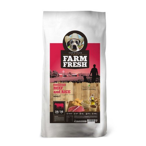 FARM FRESH BEEF AND RICE 15kg