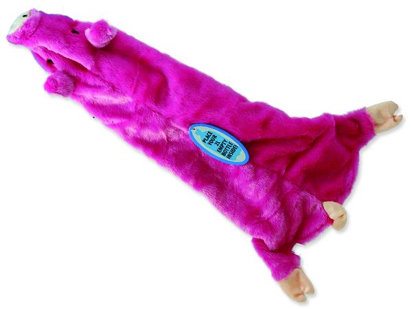 Hračka DOG FANTASY Skinneeez návlek na láhev prase 1ks