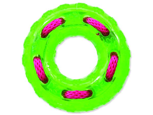 Hračka DOG FANTASY kruh gumový zelený 12 cm 1ks