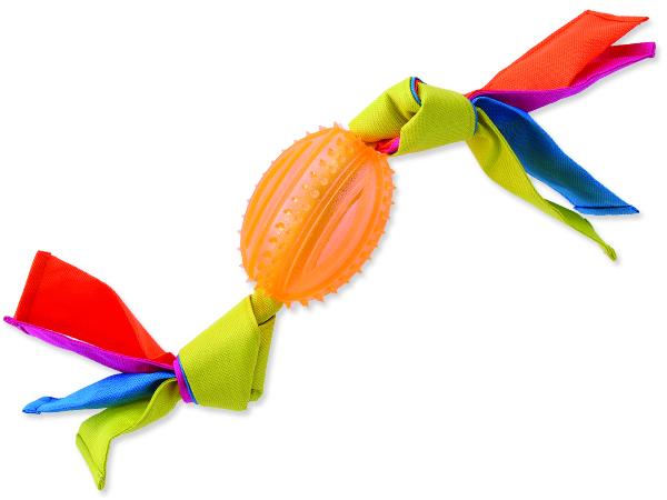 Přetahovadlo DOG FANTASY ovál gumové s látkou oranžové 43 cm 1ks