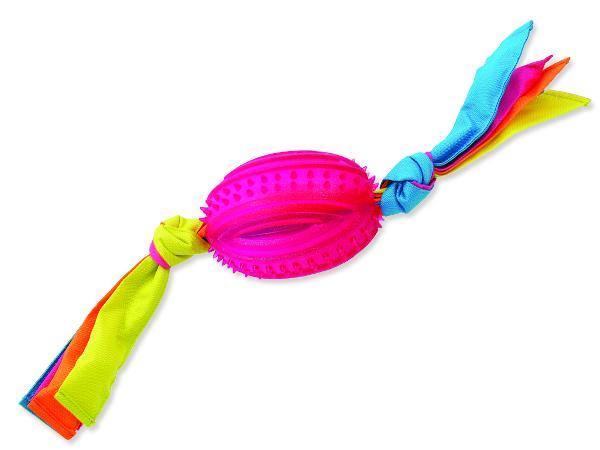 Přetahovadlo DOG FANTASY ovál gumové s látkou červené 48 cm 1ks