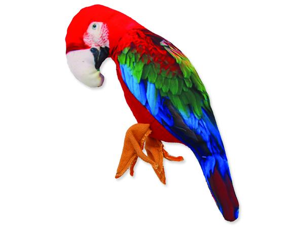 Hračka DOG FANTASY textilní papoušek 1ks
