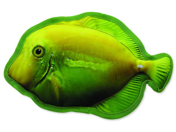 Hračka DOG FANTASY textilní ryba žlutá 1ks