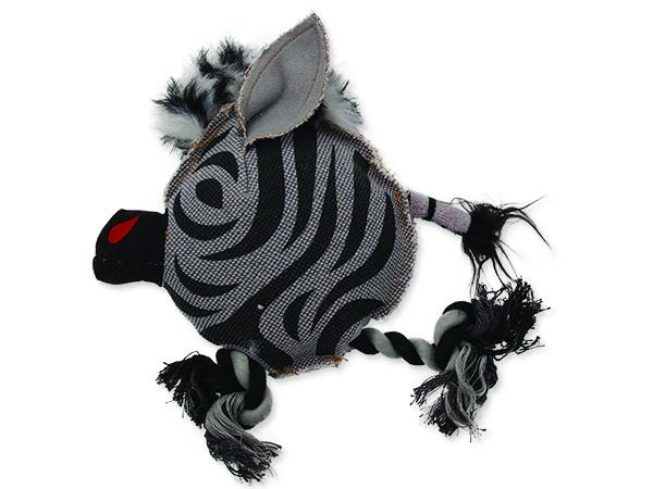Hračka DOG FANTASY textilní zebra 22 cm 1ks
