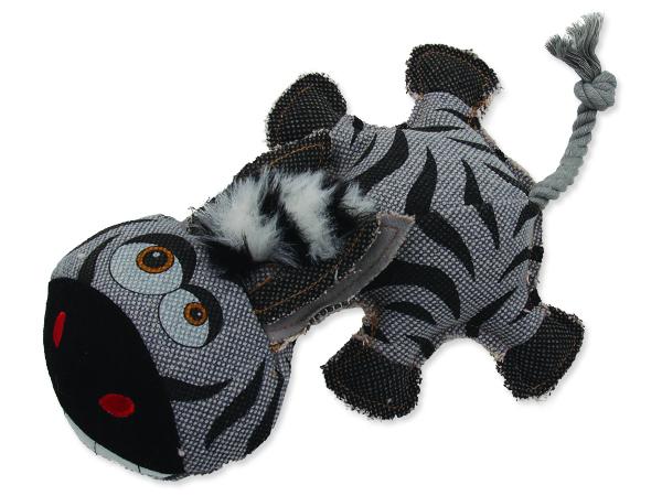 Hračka DOG FANTASY textilní zebra 32 cm 1ks