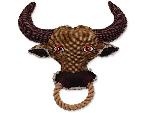 Hračka DOG FANTASY textilní kráva 1ks