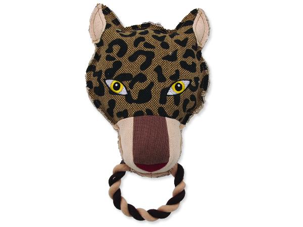 Hračka DOG FANTASY textilní leopard 26 cm 1ks