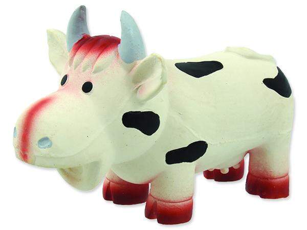 Hračka DOG FANTASY Latex kráva se zvukem 18 cm 1ks