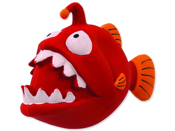 Hračka DOG FANTASY Latex ryba se zvukem 18 cm 1ks