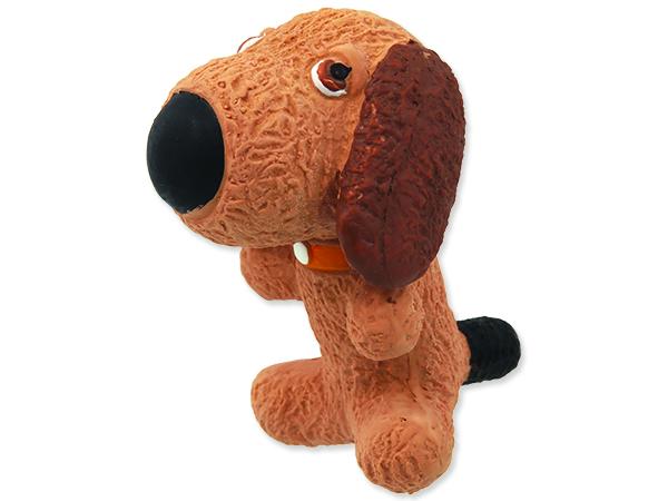 Hračka DOG FANTASY Latex pes se zvukem 9 cm 1ks