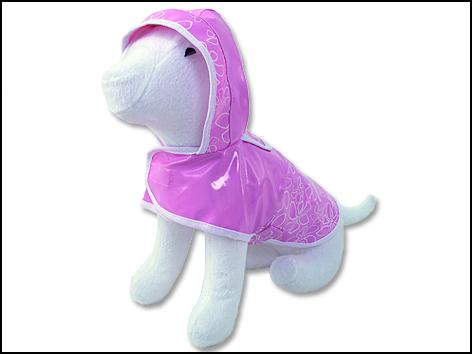 Pláštěnka DOG FANTASY DeLuxe růžová XL 1ks