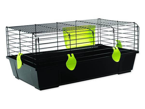 Klec SMALL ANIMALS Ludvík černá se zelenou výbavou 1ks