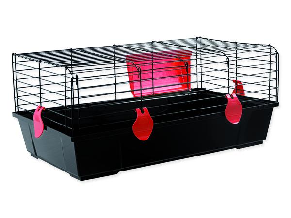 Klec SMALL ANIMALS Ludvík černá s červenou výbavou 1ks